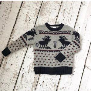 Crewcuts 100% Lambswool Reindeer Sweater Boy 3T
